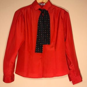 Vintage CHAUS Red Blouse